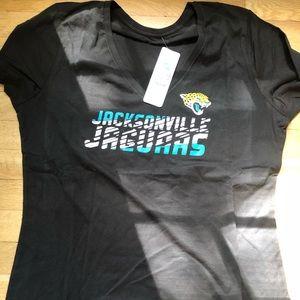 Jacksonville Jaguars ladies v-neck tee